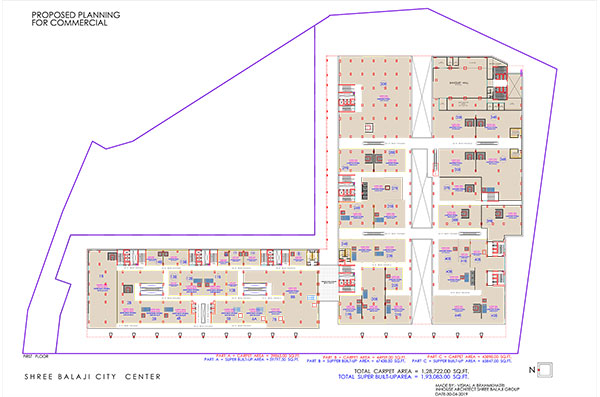 shree balaji agora city center vadodara first floor plan